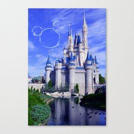 Mickey in the Sky Canvas Print