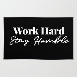 Work Hard, Stay Humble Rug