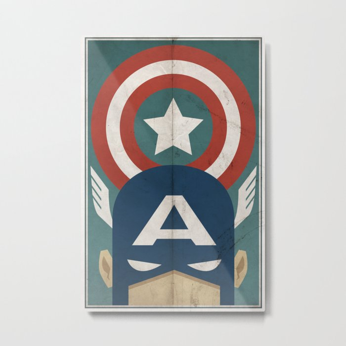 Star-Spangled Avenger Metal Print
