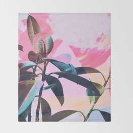 Painted Botanics Throw Blanket