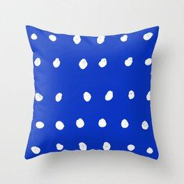 Dots - Royal Blue Throw Pillow