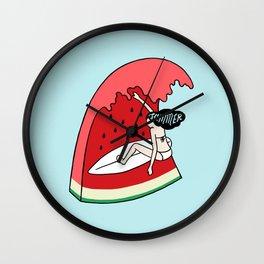 Watermelon Surf Wall Clock