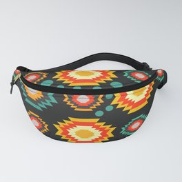 Bright shapes with bubbles Fanny Pack