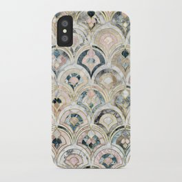 Art Deco Marble Tiles in Soft Pastels iPhone Case