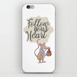 Follow your heart   follow your dreams   don't stop   positive quote iPhone Skin