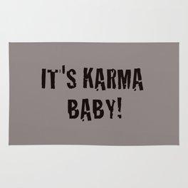 It's Karma Baby! (black) Rug