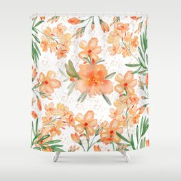 orange floral shower curtain.  Orange Floral Shower Curtains Society6 Flower Curtain Ideas Dollclique Com