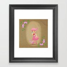 Retro Sailor Chibi Moon Framed Art Print