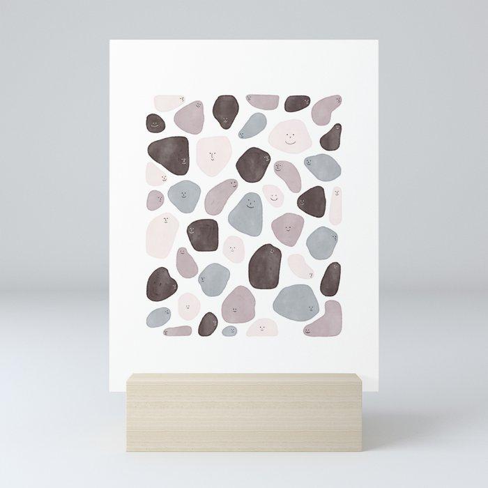 Funny Shapes Mini Art Print