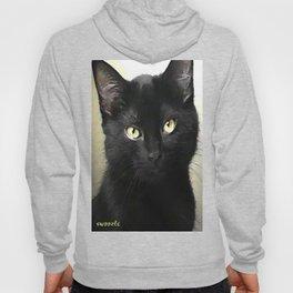 Swoozle's Black Cat in Repose Hoody