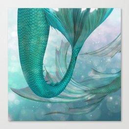 Mermaids Fantasy Pastel Sea Ocean Canvas Print