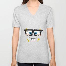 Spongebob Nerd Face Unisex V-Neck