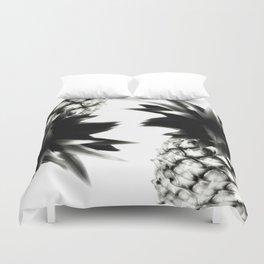Black Pineapple Duvet Cover
