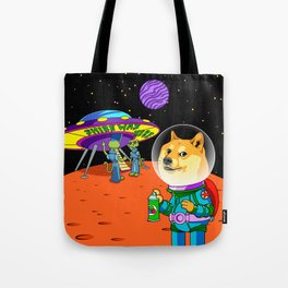 Shibe Doge Astro and the Aliens Memes Cats Cartoon Tote Bag