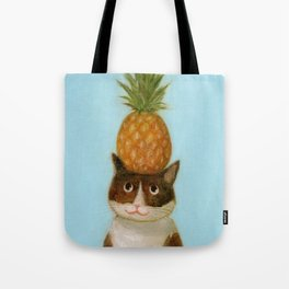 Pineapple Cat Tote Bag
