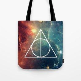 Deathly Hallows Nebula HP Tote Bag