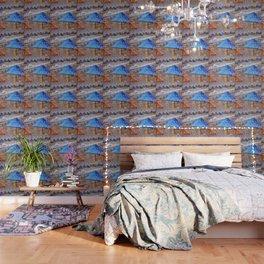 Beach Umbrellas In Impressionist Style Wallpaper