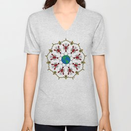 Crawfish Mandala Unisex V-Neck