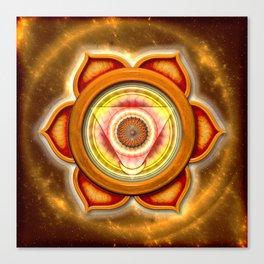 """Svadhisthana Chakra - Sacral Chakra - Series """"Open Chakra"""" Canvas Print"""