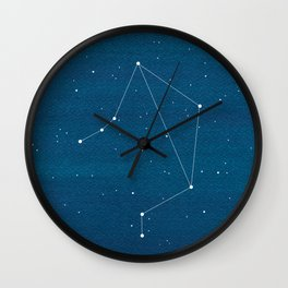 Libra zodiac constellation Wall Clock