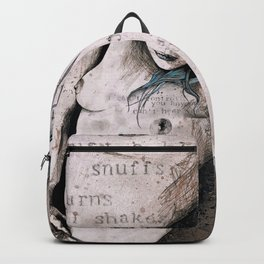 Rotten Apple: Turquoise (nude topless girl, erotic graffiti portrait) Backpack