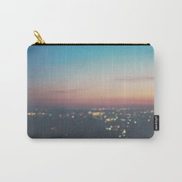 Looking down on the lights of Los Angeles as night. Carry-All Pouch