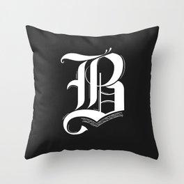 Letter B Throw Pillow