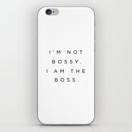 Boss iPhone Skin