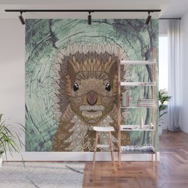 Ornate Squirrel Wall Mural