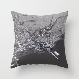 Chicago City Map I Throw Pillow