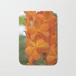 Orange Orchids Bath Mat