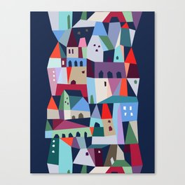 village on the hill Canvas Print