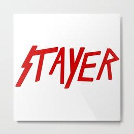 Slayer Typo Metal Print