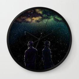John and Rodney - A Galaxy Away Wall Clock