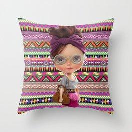 Noa Azteca by Erregiro Throw Pillow