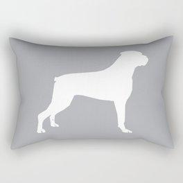 Boxer dog breed pattern dog gifts black and white minimal dog silhouette Rectangular Pillow