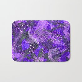 Aftermath of Spring, Abstract Floral Mosaic Art Bath Mat