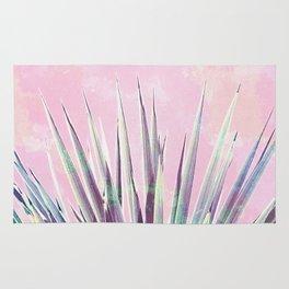 Vintage Yucca Palm - Pink Rug