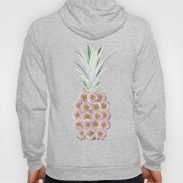 Floral Pineapple Stripes Pink Hoody