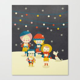 Christmas Carols Singers Canvas Print