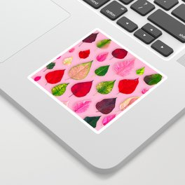 Plants on Pink Sticker