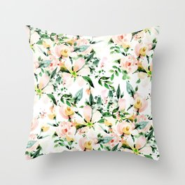 Flowered Throw Pillow