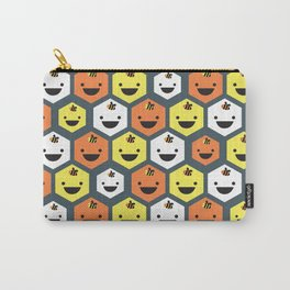 Happy Honeycomb Carry-All Pouch