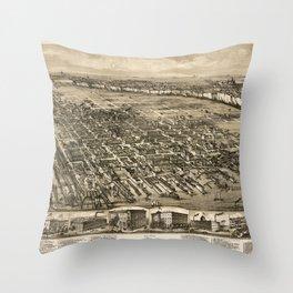 Map of Hoboken 1912 Throw Pillow