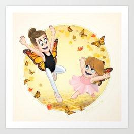 Ballet and Butterflies Art Print
