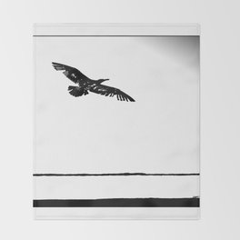 flying into the unknown Throw Blanket