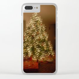 """Christmas Tree - """"S"""" Clear iPhone Case"""