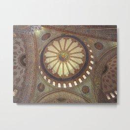 Blue Mosque Interior Istanbul, Turkey Metal Print