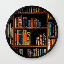 The Bookshelf (Color) Wall Clock