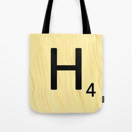 Scrabble H Decor, Scrabble Art, Large Scrabble Prints, Word Art, Accessories, Apparel, Home Decor Tote Bag